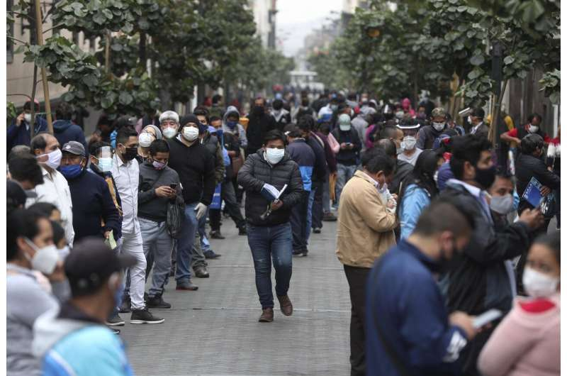 Peruvians fill streets as lockdown ends despite infections