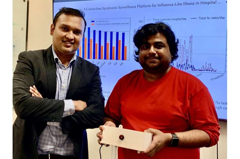 Portable AI device turns coughing sounds into health data for flu and pandemic forecasting