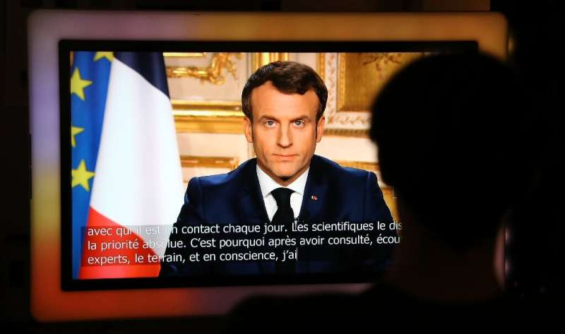 President Emmanuel Macron ordered the French to stay at home, banning all non-essential trips or social contacts