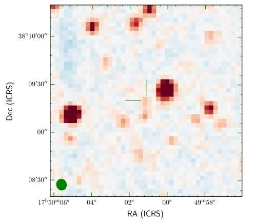 Radio observations detect new brown dwarf