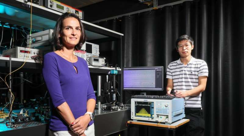 Reconfiguring microwave photonic filters without an external device