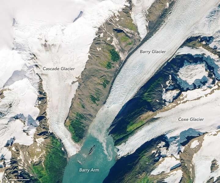 Retreating glacier presents landslide threat, tsunami risk in Alaskan fjord