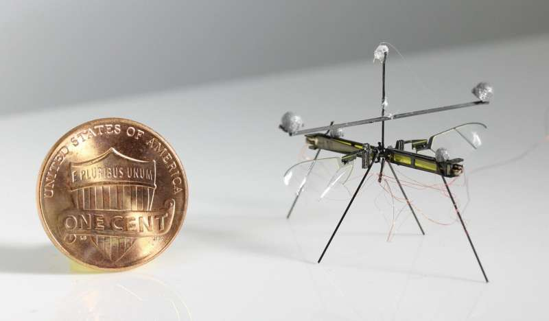 RoboFly: an insect-sized robot that can fly, walk and drift on water surfaces