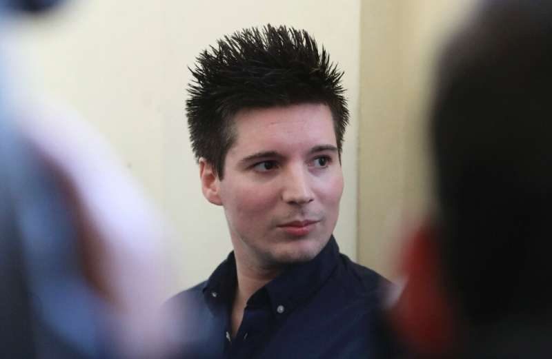 Rui Pinto appeared in court in Budapest in March 2019 for his extradition hearing