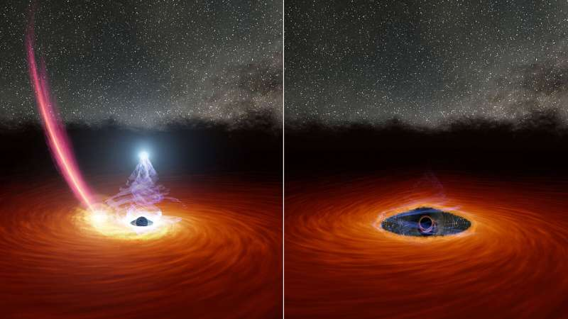 Runaway star might explain black hole's disappearing act