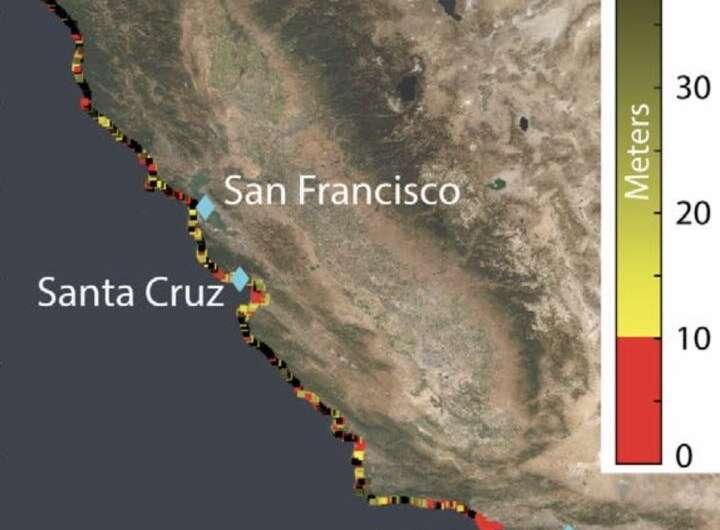 Satellite survey shows California's sinking coastal hotspots