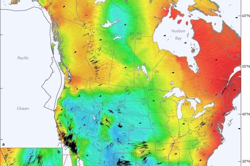 Seismic map of North America reveals geologic clues, earthquake hazards
