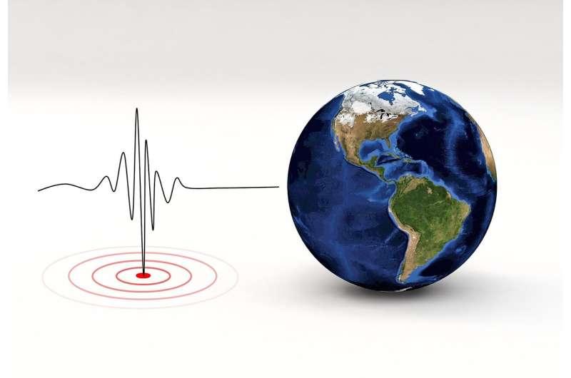 अमेरिकी भूमिगत परमाणु परीक्षणों के लिए गणना की गई ग्राफिक 'बीच बॉल' प्रतिनिधित्व