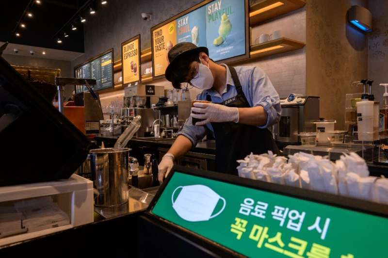 Seoul coffee shops are no longer restricted to take-aways only after cases fell back