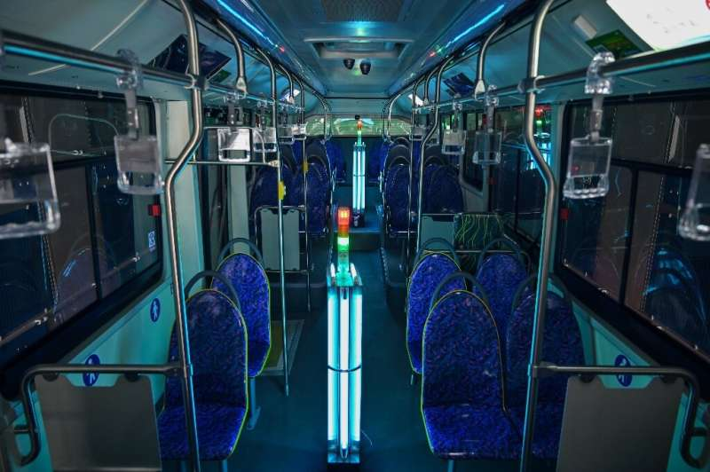Shanghai public transport firm Yanggao has converted a regular cleaning room into a UV light disinfection chamber