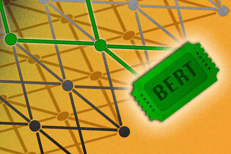 Shrinking massive neural networks used to model language