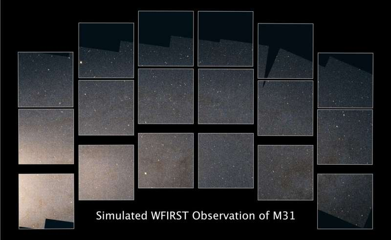 Simulated image demonstrates the power of NASA's Wide Field Infrared Survey Telescope