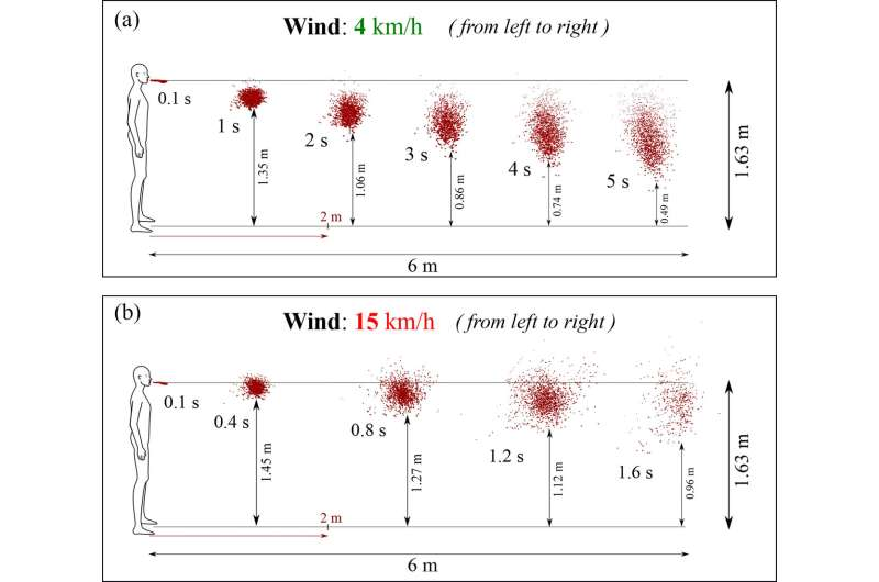 Six feet not far enough to stop virus transmission in light winds