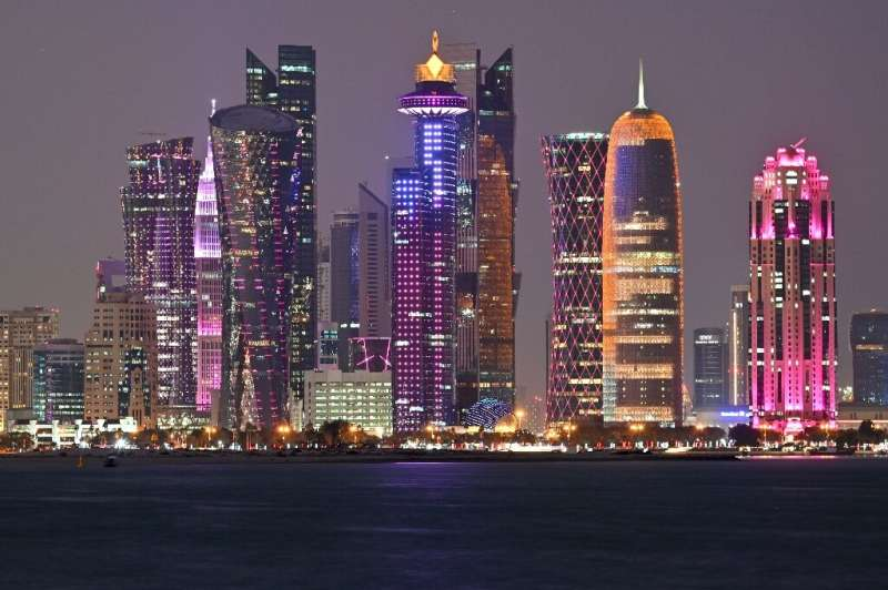 Skyline of the Qatari capital Doha