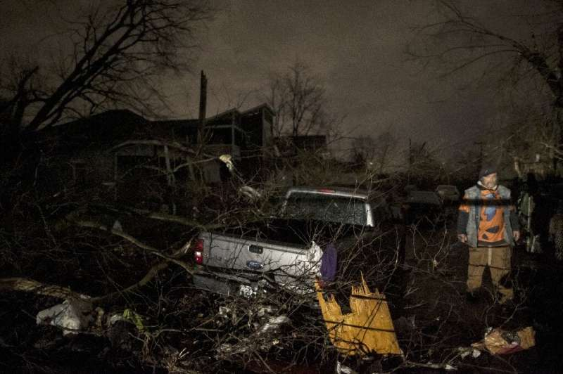 Smashed buildings, downed power lines and debris could be seen across Nashville on March 3