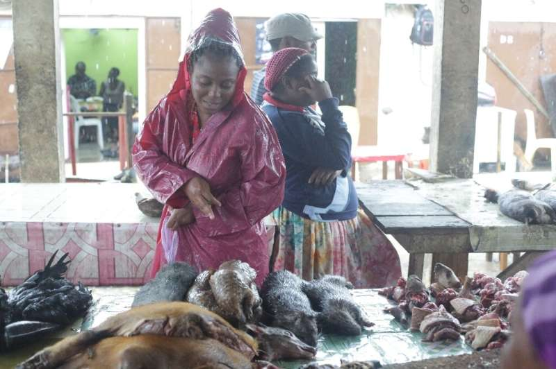 Some bushmeat lovers at the Libreville market were not discouraged by the coronavirus shadow looming over pangolins
