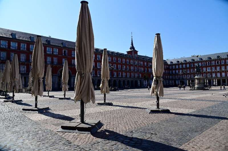 Squares and streets from Milan to Madrid were deserted on Saturday as government calls to stay at home were heeded by most of th
