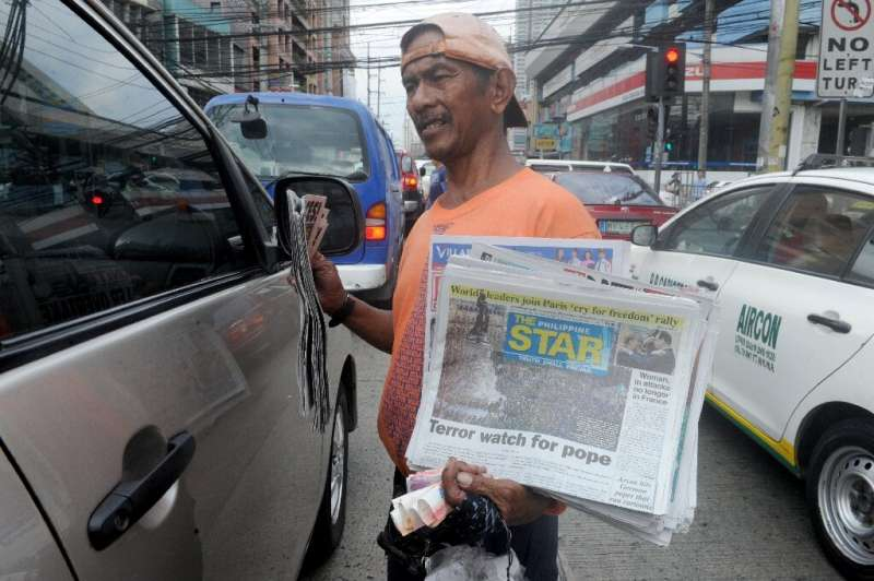 Street sales are vital for Filipino newspapers but were hit hard by the virus crisis