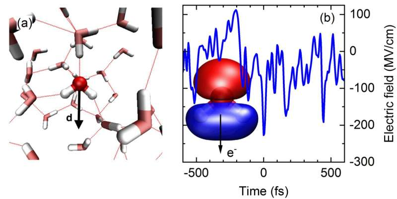 Strong fields and ultrafast motions--how to generate and steer electrons in liquid water