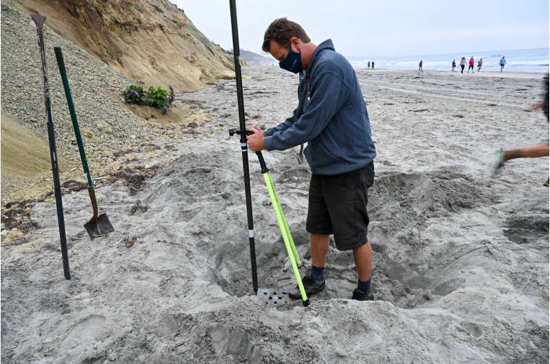 Surveys identify relationship between waves, coastal cliff erosion