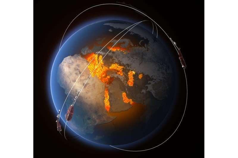 Swarm probes weakening of Earth's magnetic field