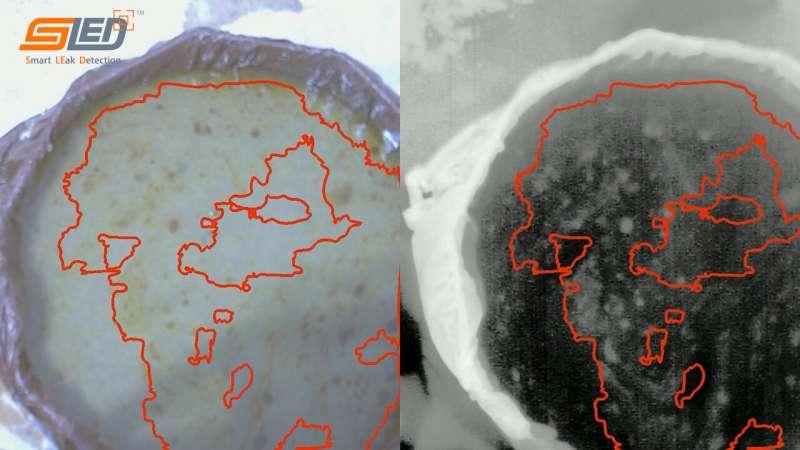 SwRI's SLED-W algorithms detect crude oil on water