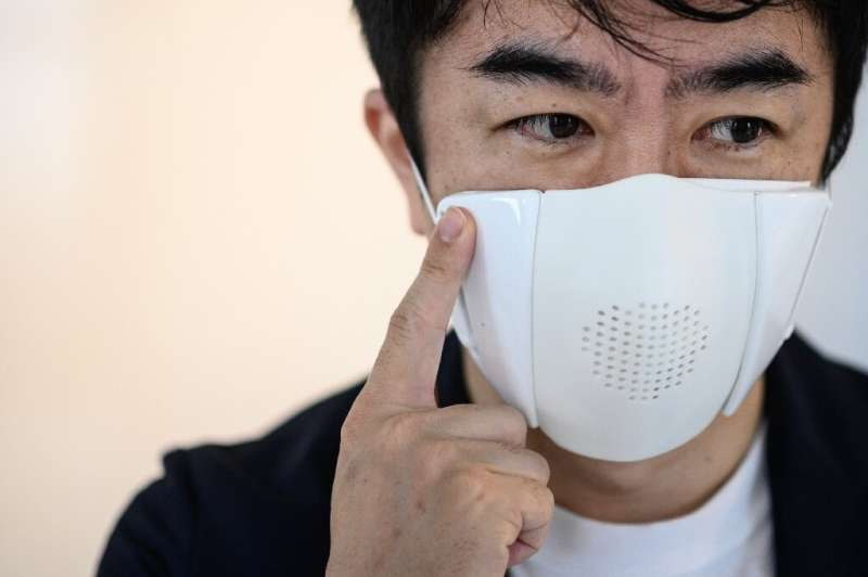 Taisuke Ono's start-up Donut Robotics has created a mask that helps users adhere to social distancing and also acts as a transla
