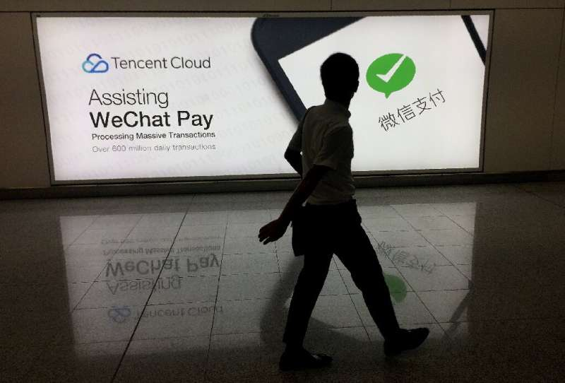 Tencent owns the messaging app WeChat