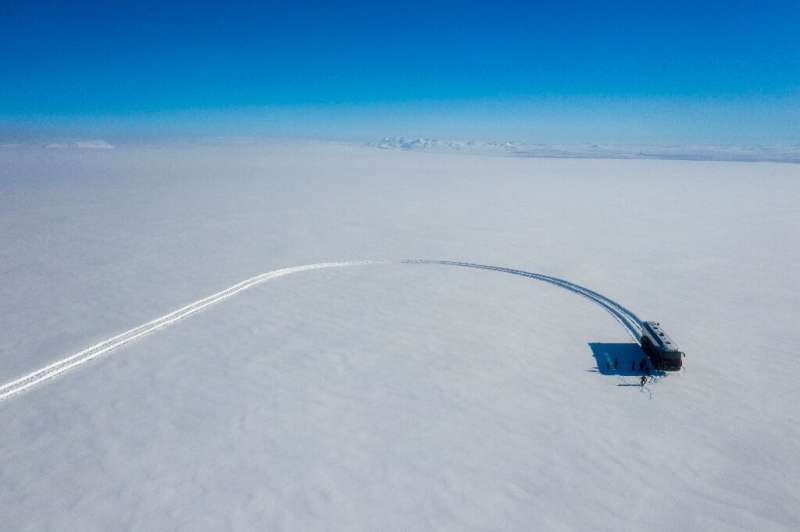 The bus is 15 metres (50-foot) long and fitted with eight wheels, each two metres in diameter