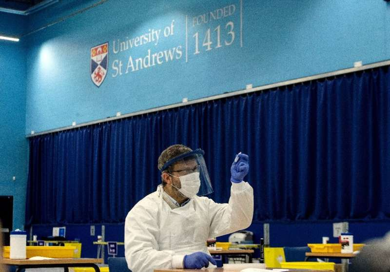 The centuries-old university has set up the centre as part of a rollout of Covid-19 tests for students across Scotland