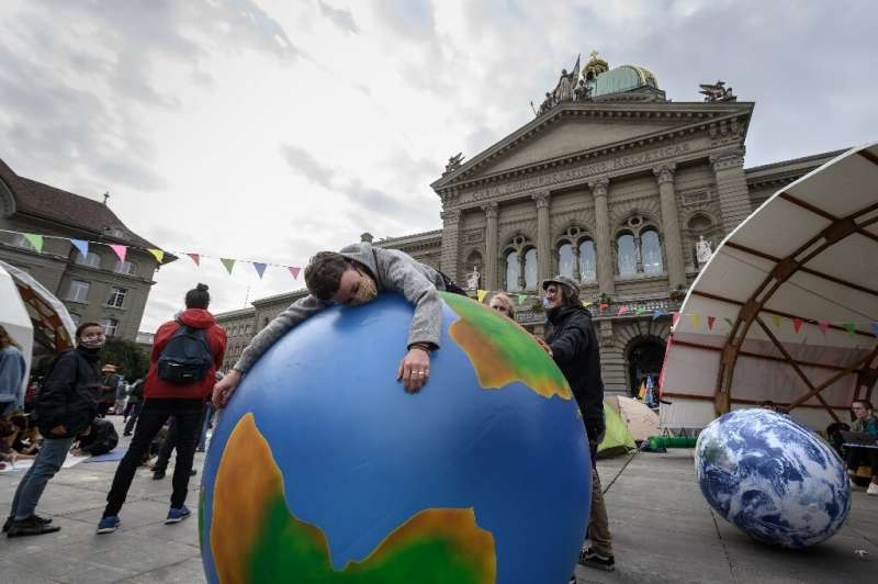 The Countdown event seeks to highlight ways to take action, setting it apart from climate protests such as this one in Bern, Swi
