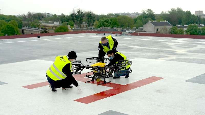 The drones can beat the traffic jams ambulances have to negotiate, helping contribute to the fight against the coronavirus