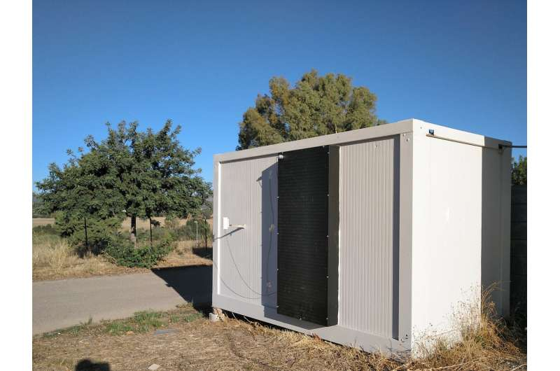 The effectiveness of a heating system is validated, heating air from solar radiation