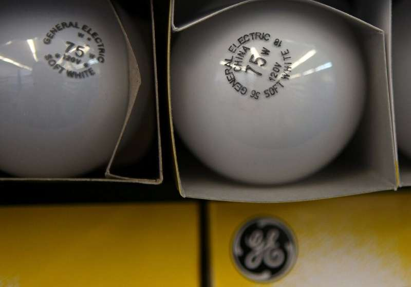 The GE logo will still appear on light bulbs even though the company is getting out of the business