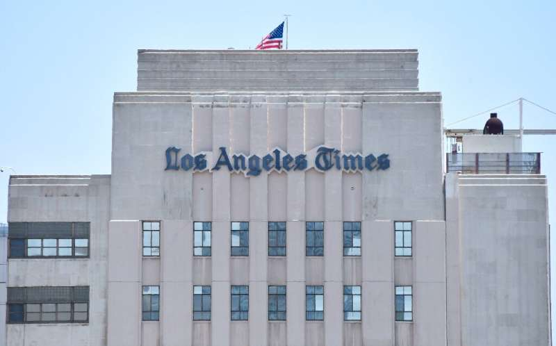 The Los Angeles Times is reported to have lost one-third of its advertising revenues during the coronavirus crisis