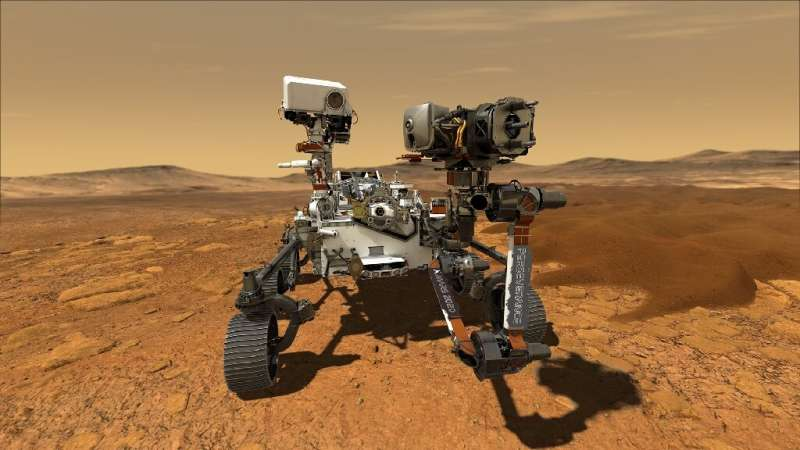 The Mars rover Perseverence will collect soil samples from the Red Planet