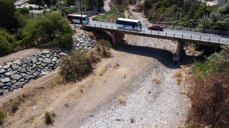 The Melon river in Chile was completely dried out in January 2020