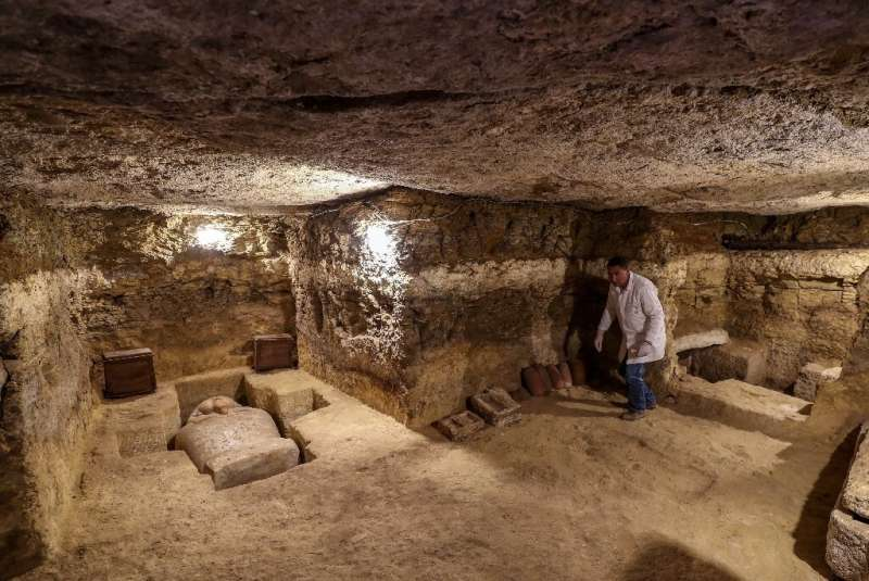 The mission found 16 tombs containing 20 sarcophagi