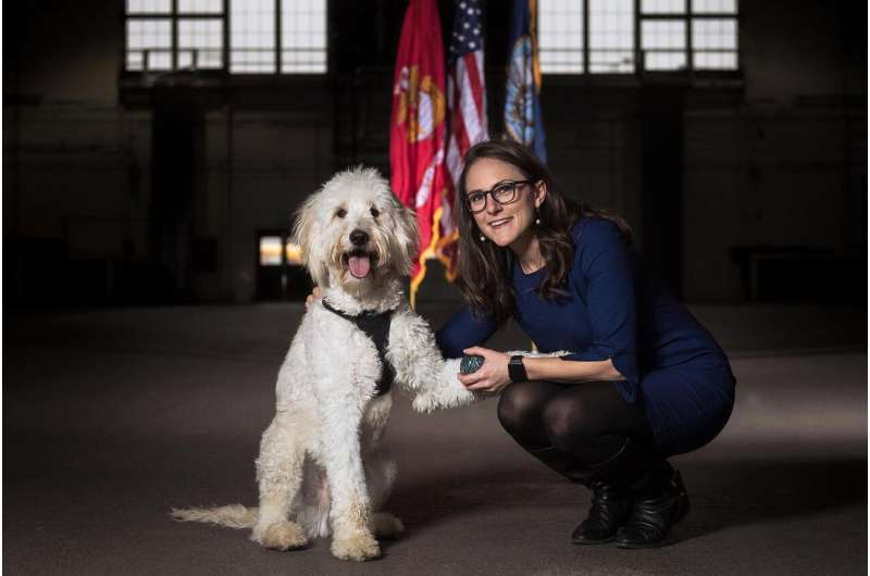 The most important task for a PTSD service dog for veterans is disrupting anxiety