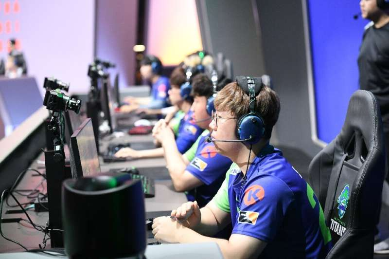 The Overwatch League Grand Finals 2019 event is pictured here; the pandemic has forced cancellation of e-sports tournaments