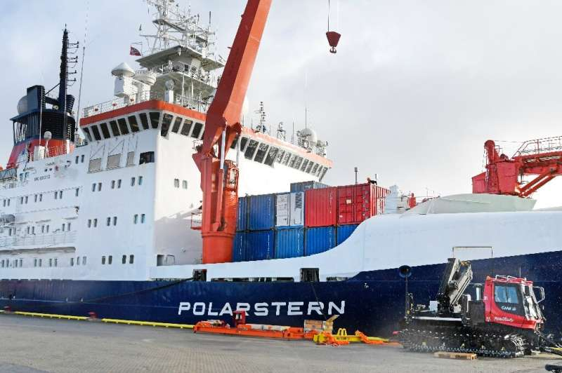 The Polarstern icebreaker was frozen into the Arctic sea ice for months as part of the expedition