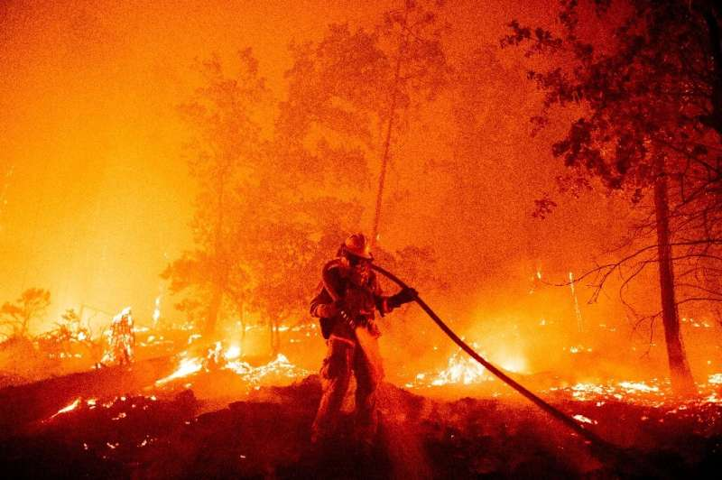 The rapidly-expanding Creek Fire in northern Califorinia has so far spread to 135,525 acres, destroyed 65 structures