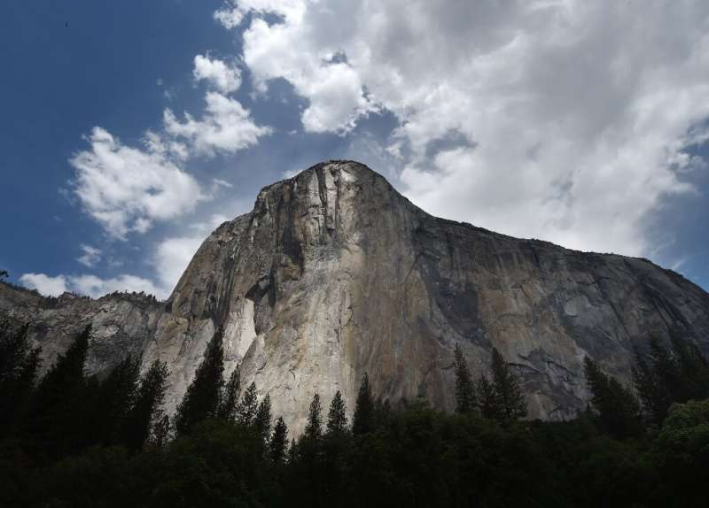 The rock formation El Capitan is seen in Yosemite National Park
