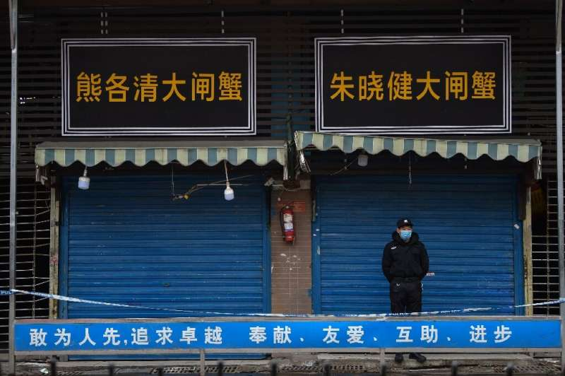 The virus was first detected at a market in Wuhan, which is now shuttered