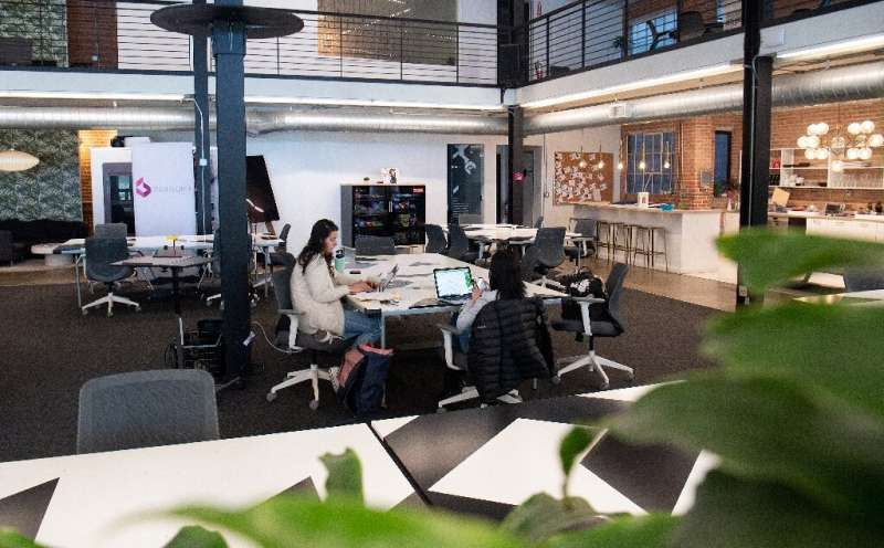 The work-from-home phenomenon has left many offices, including co-working spaces like this one in San Francisco, largely abandon
