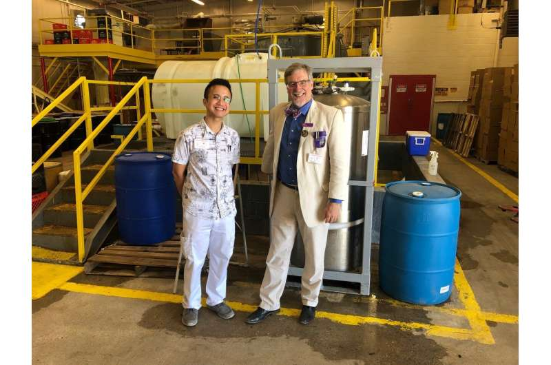 Thousands of Gallons of Good: LSU chemists help Louisiana prepare large batches of hand rub sanitizer