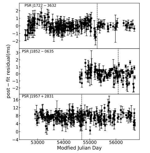 Timing observations with Nanshan Radio Telescope investigate almost 90 pulsars