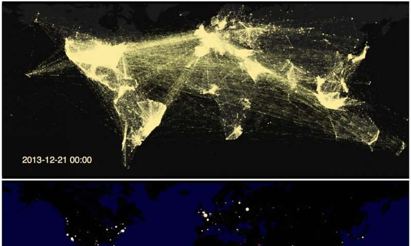 Twitter data reveals global communication network