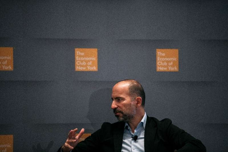 Uber CEO Dara Khosrowshahi says the ridesharing giant is seeing some indications of a rebound in parts of the world from the cor