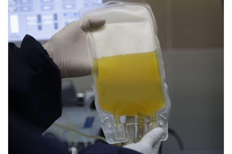 UN cautions that virus plasma treatment still experimental